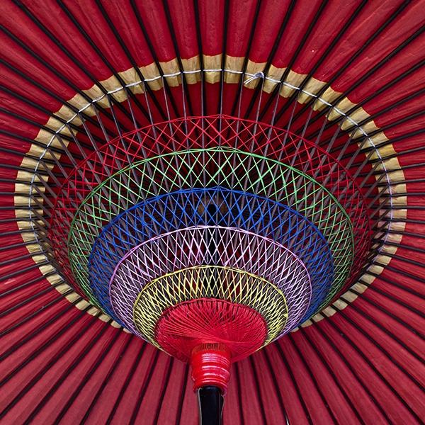 Colorful Japanese parasol